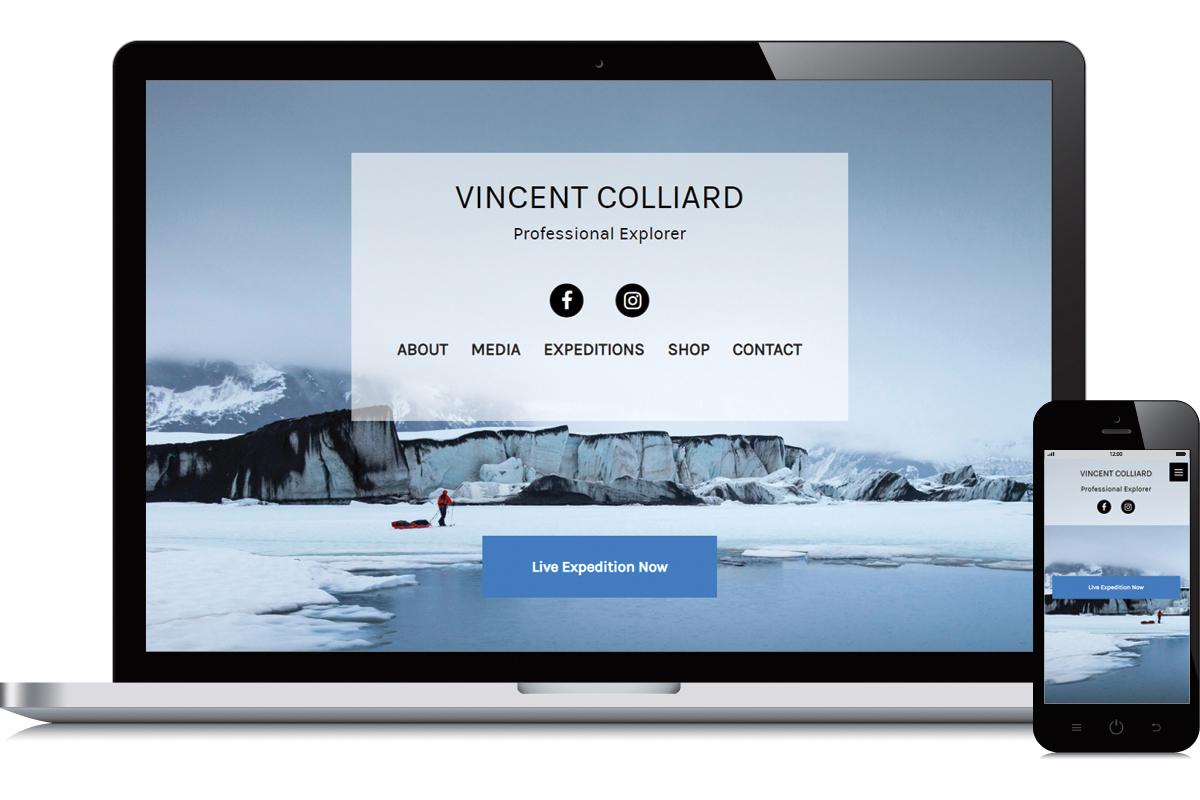 Refonte du site de Vincent Colliard