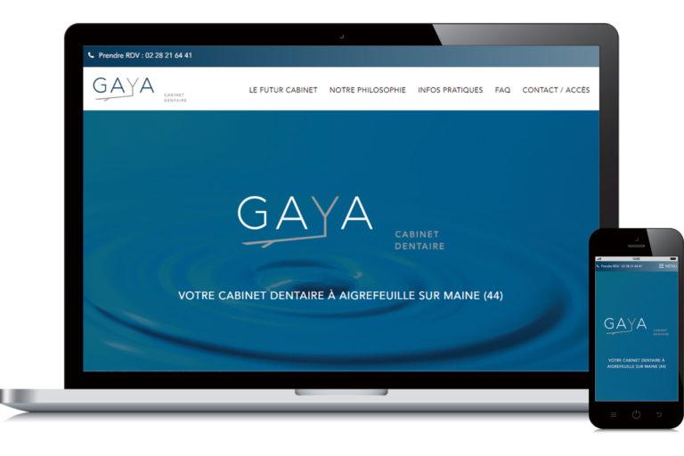 Création de site web : Cabinet dentaire Gaya