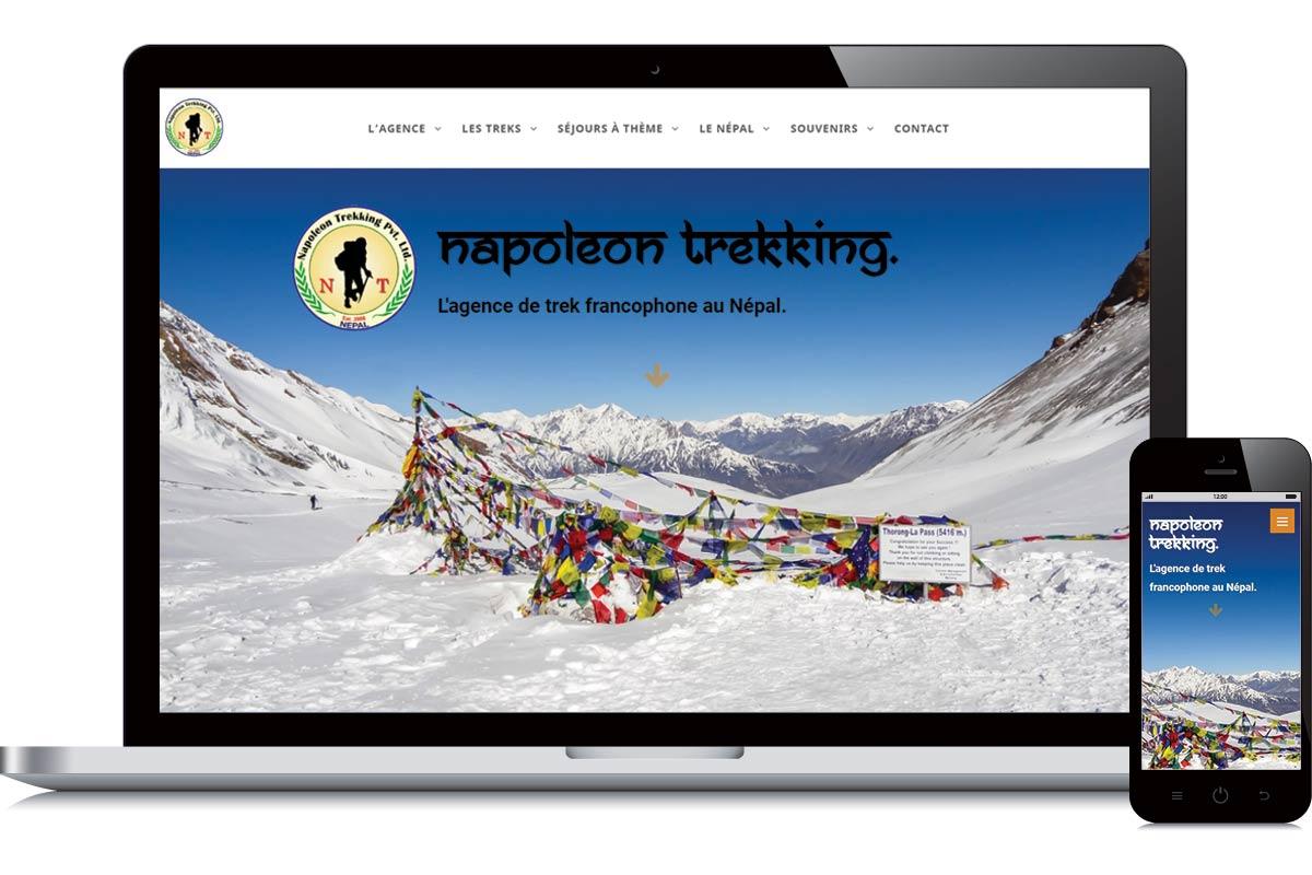 Refonte du site web de Napoleon Trekking